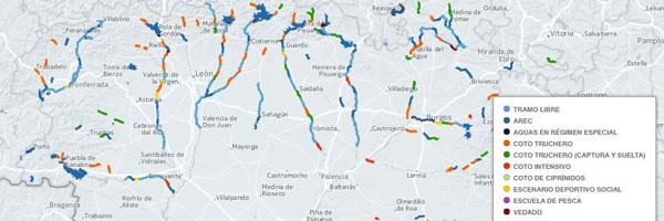 Mapa pesca CyL 2015