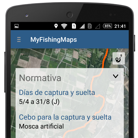 APP de pesca MyFishingMaps