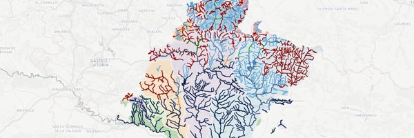 Mapa de pesca de Navarra