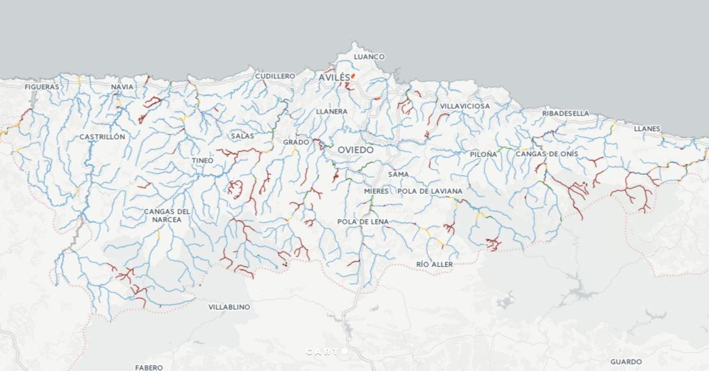 mapa pesca Asturias