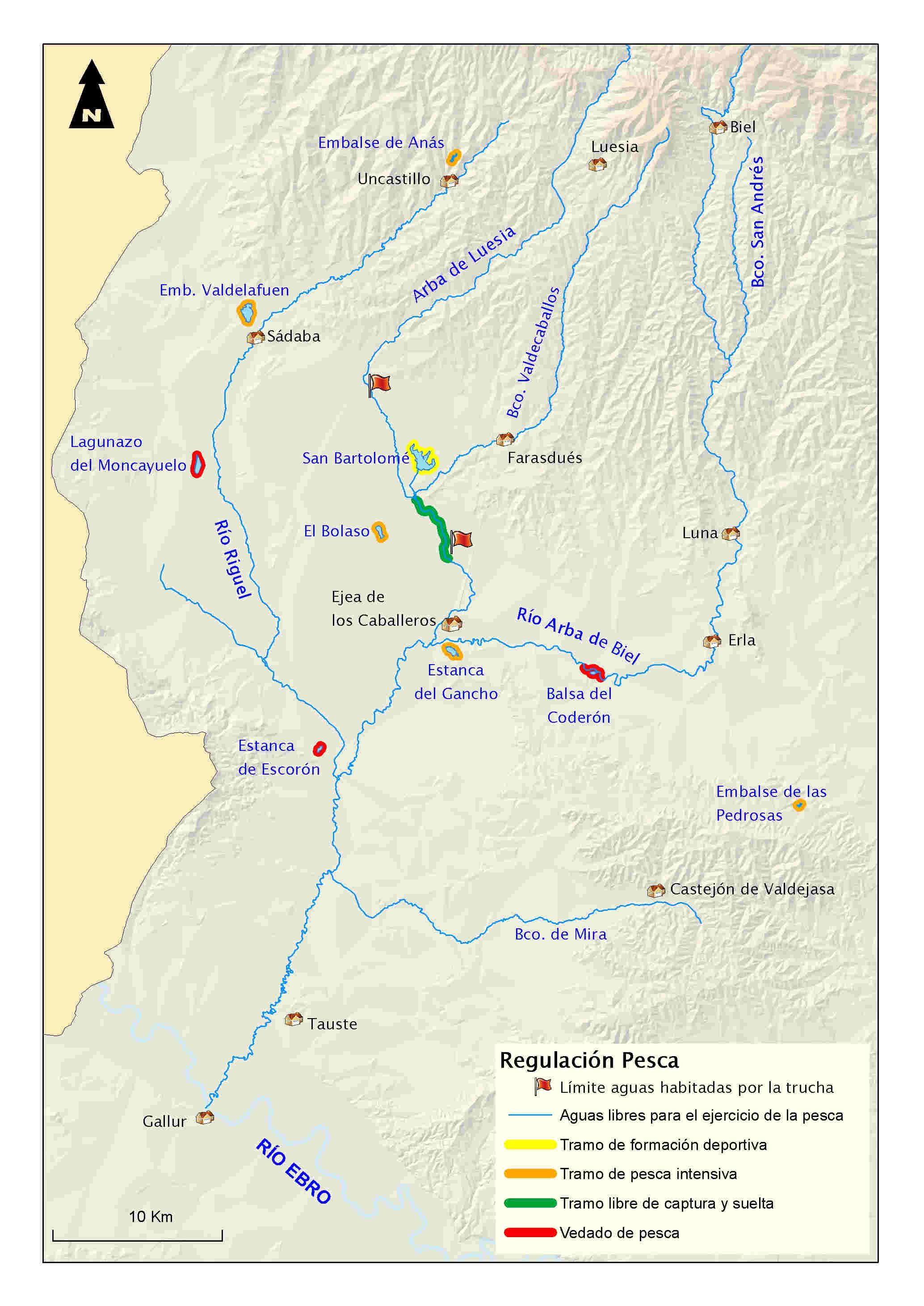 mapa pesca arba