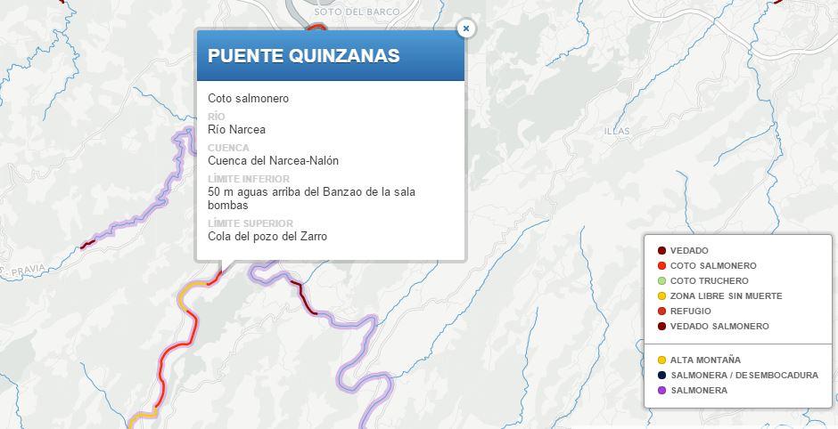 Cotos de pesca Asturias
