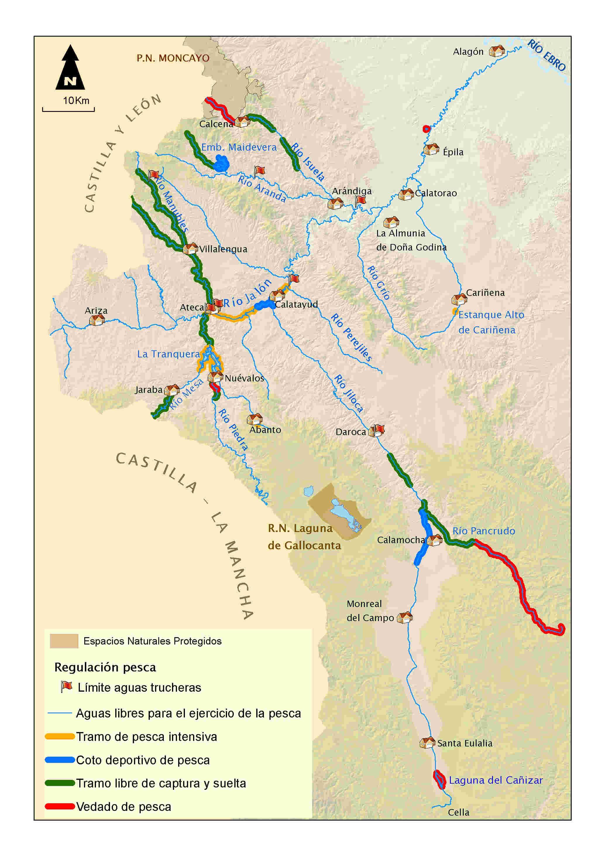 mapa pesca Jalón