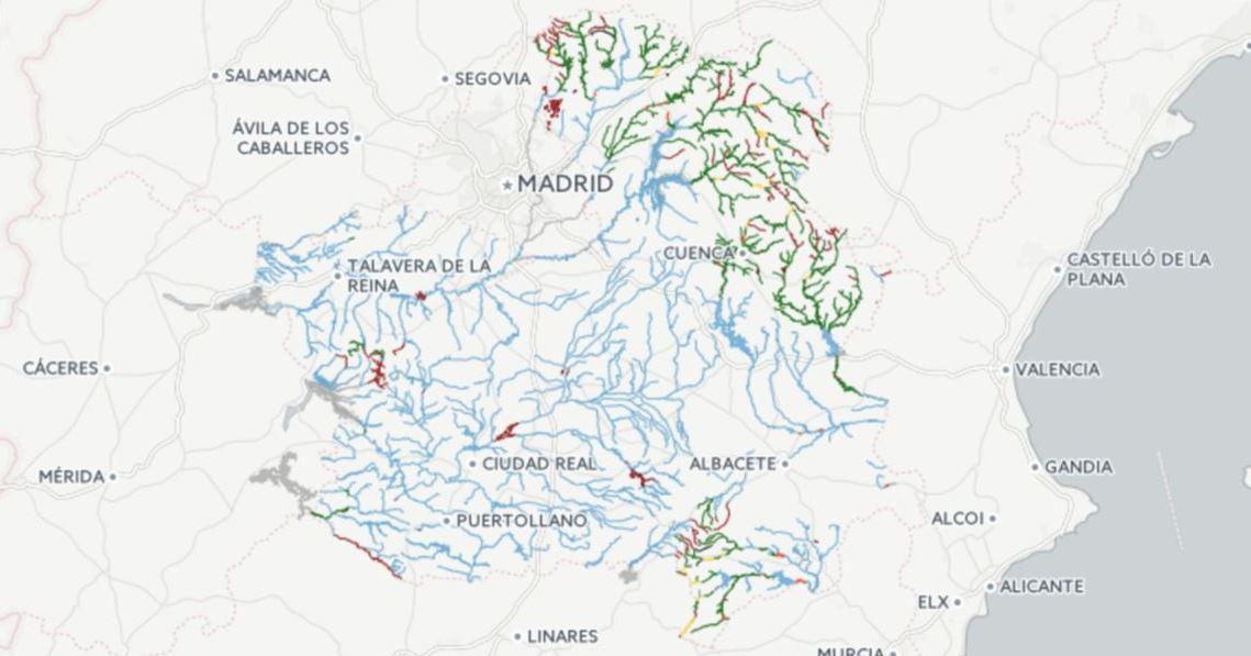 mapa de pesca de Castilla La Mancha