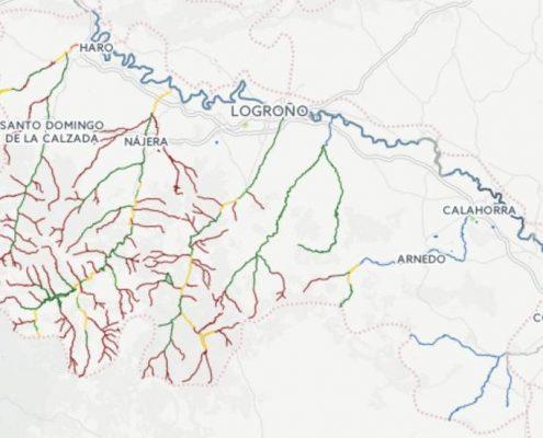 Mapa de pesca de La Rioja