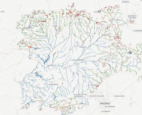 mapa de pesca de Castilla y León