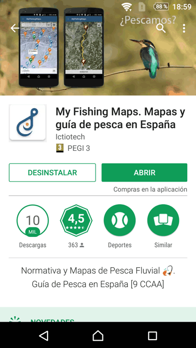 play store My Fishing maps