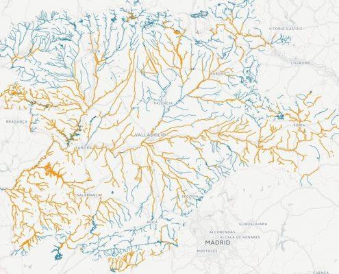 mapa de pesca del cangrejo en Castilla y Leon