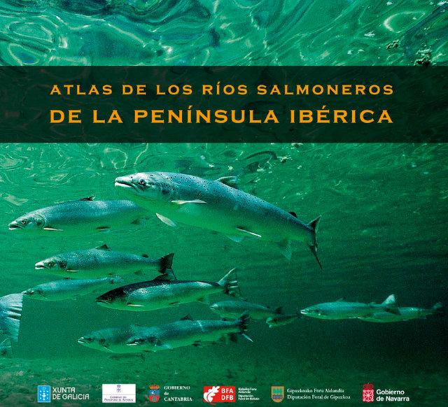Portada del Atlas de los ríos salmoneros de la península Ibérica