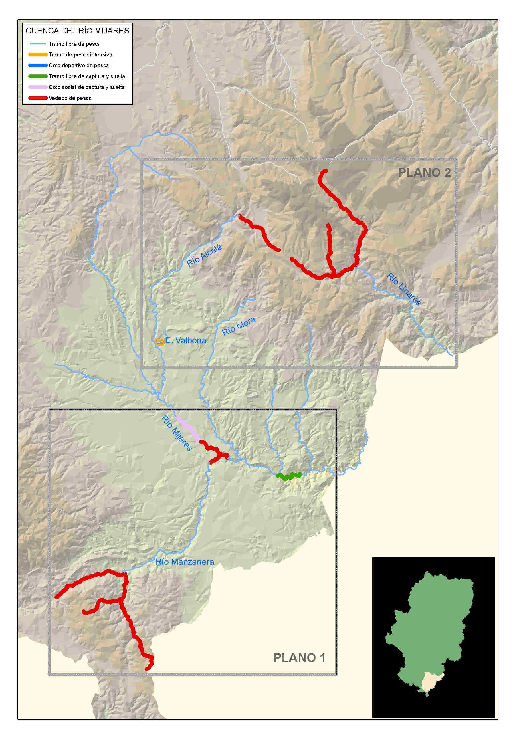 mapa pesca Mijares