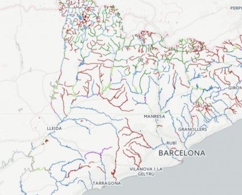 Mapa de pesca de Cataluña