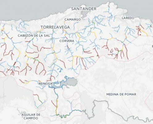 Mapa de pesca de Cantabria