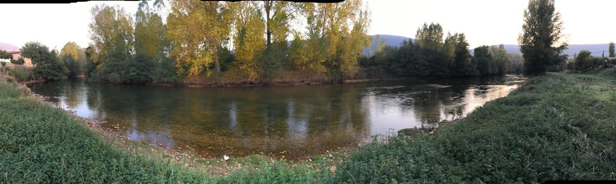 Aguas trucheras del río Ebro en Burgos