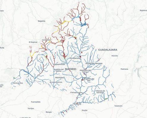 Mapa de pesca de Madrid