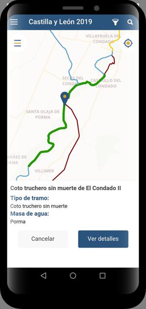 App de pesca - navegación mapa